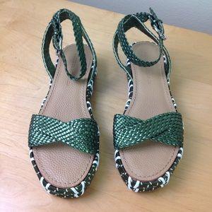 Sigerson Morrison Shoes - Sigerson Morrison Metallic Braided Leather Sandals